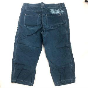 EUC Kuhl kuhldry blue Spring/Summer Capri Size 10